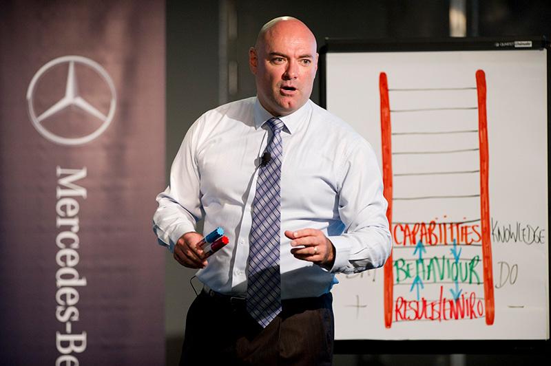 Ian Stephens - Motivational Speaker - Facilitating Mercedes Benz Conference