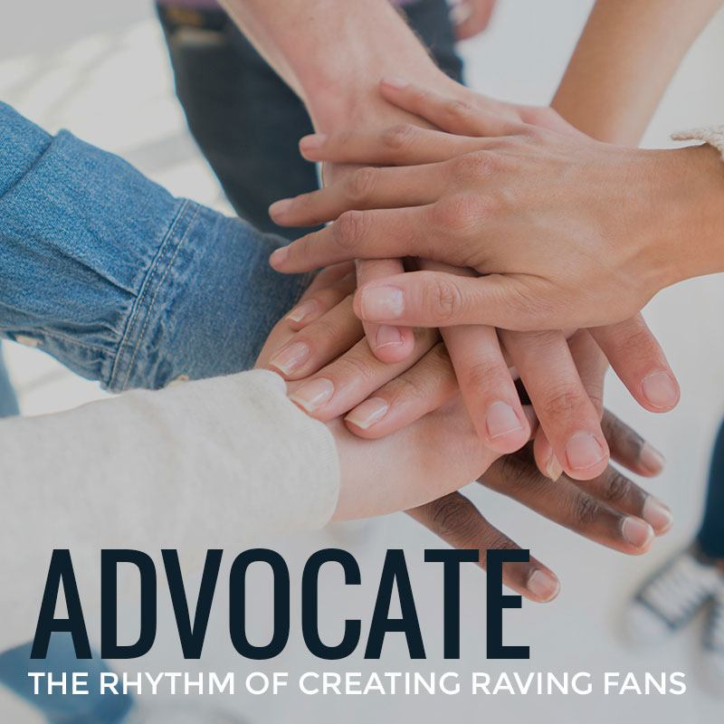 Advocate - The Rhythm of Creating Raving Fans | Ian Stephens - Motivational Speaker | Tile