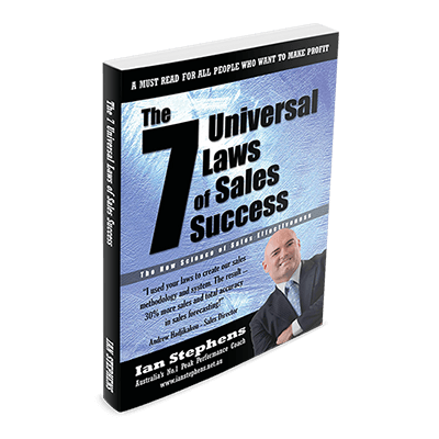 Professional Development Book - The 7 Universal Laws of Sales Success | Author Ian Stephens
